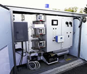 Sewage Lift Station - The digital control system monitors the lift station and provides internal alarms for early failure detection. By Kerr Controls Inc.
